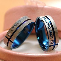 Rings 1 PCS stainless Steel wedding B his hers promise sets