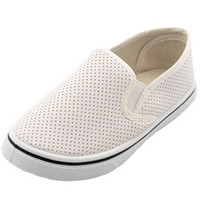 Eddie Marc Girls -Perforated Perfection Slip-On Shoes (Toddler Sizes 11 - 12)-edm01456