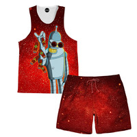 Salt Bender Tank and Shorts Rave Outfit