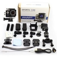 ANART® SPC-01 W8 WiFi 12MP 170 Degree 1080P Digital Waterproof Helmet Sports Action Car Camera Black