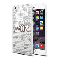 Maroon 5 Songs Lyric TY00 for iPhone case and Samsung Galaxy case