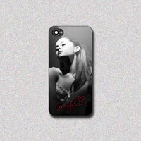 Ariana Grande With Signature - Print on Hard Cover for iPhone 4/4s, iPhone 5/5s, iPhone 5c - Choose the option in right side