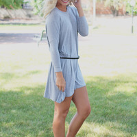 Near & Far Tunic - Heather Grey