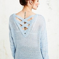 Sparkle & Fade Cross Back Jumper - Urban Outfitters