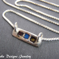 Artisan jewelry recycled fine silver necklace pmc pendant