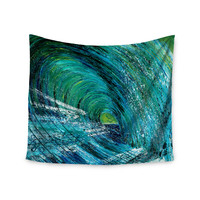 "Josh Serafin ""Natural High"" Blue Green Wall Tapestry"