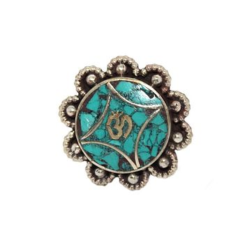 Om Turquoise ring