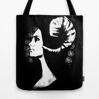 The White Faced Woman Tote Bag by Karl Wilson Photography