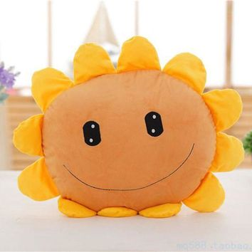 Star Product 22inch 55cm Lovely Plant Vs Zombies Sunflower Plush Sushion Pillow,1pcs/pack