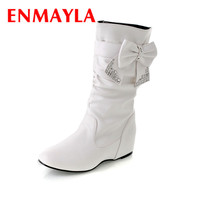 Flat Heels Round Toe Med-Calf Women's Winter Boots