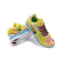 """""""Nike Free 5.0 TR Fit 3"""" Women Sport Casual Bird's Nest Flower Print Breathable Barefoot Sneakers Running Shoes"""