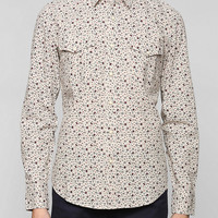 Salt Valley Floral Chambray Button-Down Shirt  - Urban Outfitters