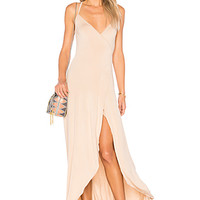 Clayton Dita Wrap Maxi Dress in Bare | REVOLVE