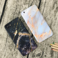 Fashion marbling plastic Case Cover for Apple iPhone 7 7Plus 6 Plus 6 -05012