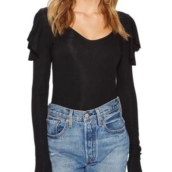 On Rewind Ruffle Layering Top