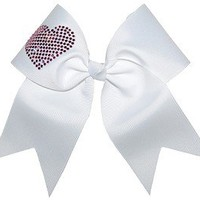 Custom Texas Size, Standard Size, Youth Size, and Pig Tail Hair Bows for Cheer / Dance by POWERBows 7432