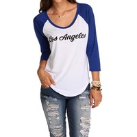 RoyalWhite Los Angeles Baseball Tee