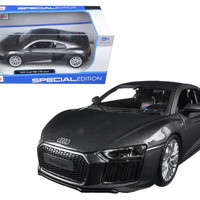 Audi R8 V10 Plus Grey Special Edition 1-24 Diecast Model Car by Maisto