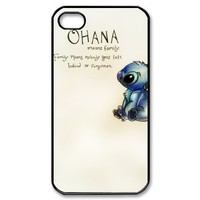 JIAXIUFEN Ohana Hard Rigid Plastic Back Case Cover For Apple Iphone 5 5S 5G Skin Protector Accessory