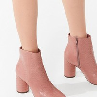 Sabrina Faux Snakeskin Ankle Boot   Urban Outfitters
