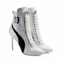PUMA FENTY BY RIHANNA HIGH HEEL LEATHER SHOES WOMEN'S SIZE US 8 WHITE 363038-02
