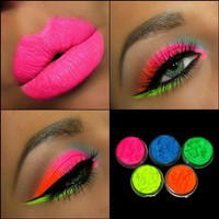 5 Eyeshadow Pigment Ultra Bright Remix Shimmer Set Beauty Cosmetic Mineral Makeup 3 Gram Size