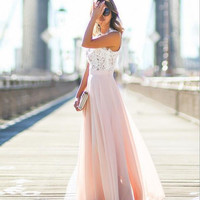 Lace Patchwork Prom Dress 12523