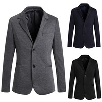 Two Buttons Slim Fit Men's Fashion Blazer