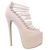 Ladies Court Shoes Womens 7 Inch Stilettos Platforms High Heels Strappy Size