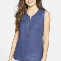 Women's Tommy Bahama 'Larch Indigo' Sleeveless Linen Tunic
