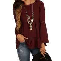 Promo-burgundy Dream Catcher Top