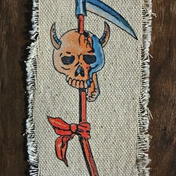High Stakes 💀 Recycled Canvas Patch – BACKBITE