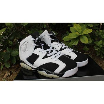Air Jordan retro 6 low oreo men women basketball shoes 2016 US size 5.5-13 sneakers