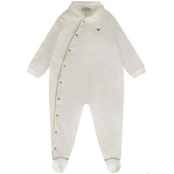 Baby Luxury Ivory Romper & Hat (Gift Set)