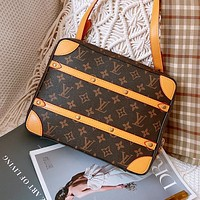 Louis Vuitton LV Vintage Men's and Women's Printed Letter Crossbody Bag Shoulder Bag