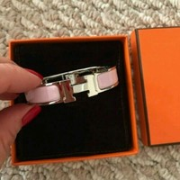 HERMES Bangle Bracelet Clic Clac H Color:Pink Ladies' Fine jewelry