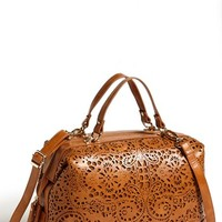Sole Society 'Camille' Laser Cut Satchel | Nordstrom