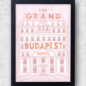 The Grand Budapest Hotel Poster -  Wes Anderson film, Zubrowka, ralph fiennes, royal tenenbaums
