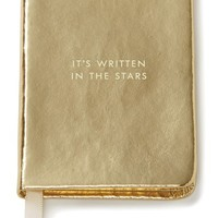 kate spade new york 'it's written in the stars' mini notebook - Metallic