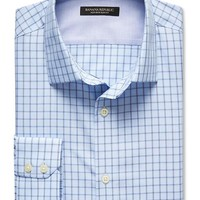 Banana Republic Mens Slim Fit Non Iron Tattersall Shirt