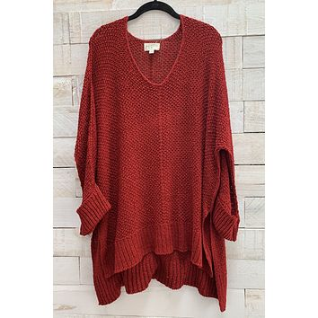 Pullover Sweater- Red