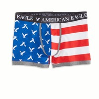 AE Americana Low Rise Trunk, Red | American Eagle Outfitters