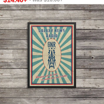 Fallout Poster   Galaxy New Radio poster   Vintage look print   Videogame art   GNR poster