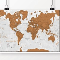 Scratch World Map - Scratch Off Places You Travel