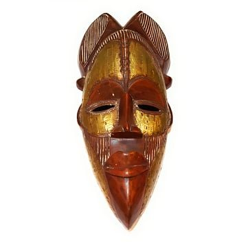 """🎁 ONE DAY SALE 12"""" African Wood Mask: Brown"""