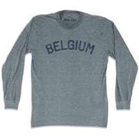 Belgium City Vintage Long Sleeve T-shirt