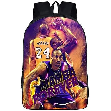 3D Kobe Bryant Backpack|Bookbag|Laptop Backpack|Backpacks For Men Women