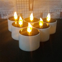 Yellow Solar Power LED Candles/Flameless Electronic Solar LED Tea Lights Lamp/Plastic Solar Energy Candle for Outdoor