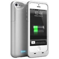 Maxboost Atomic Air External Protective iPhone 5 Battery Case -Glossy White , Fits All Versions of iPhone 5 - Lightning Connector Output, MicroUSB Input