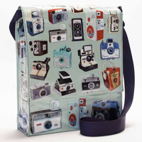 Cameras Messenger Bag with Pencil Case